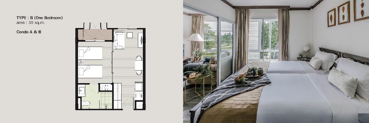 Parco condo khaoyai-Invesment -unit type-1bedroom-1-01