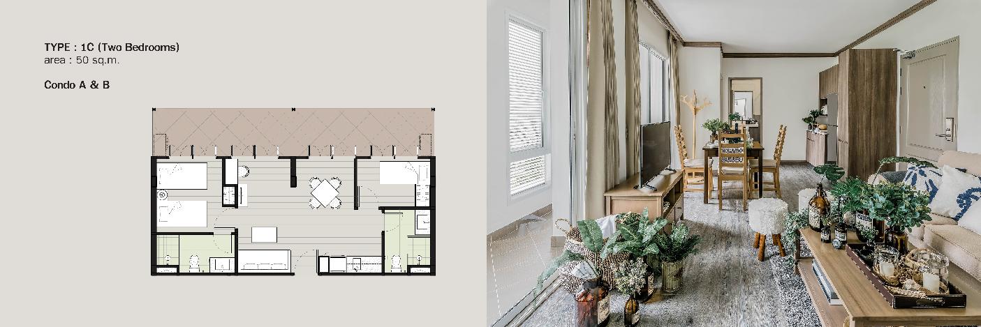 Parco condo khaoyai-Invesment -unit type-2bedroom-01