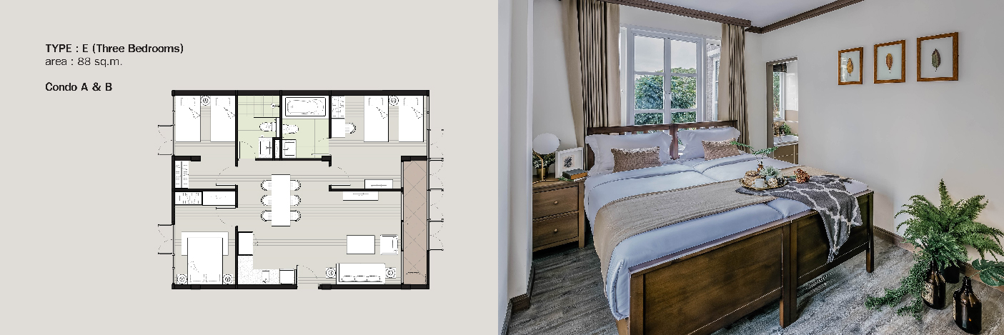 Parco condo khaoyai-Invesment -unit type-3bedroom-01
